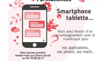 Centre social : permanences smartphones tablettes